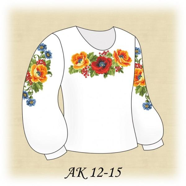 Заготовка дитячої вишиванки для дівчинки АК 12-15 під вишивку ... 07a0df750ee81