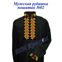 Чоловіча сорочка пошита чорна № 02